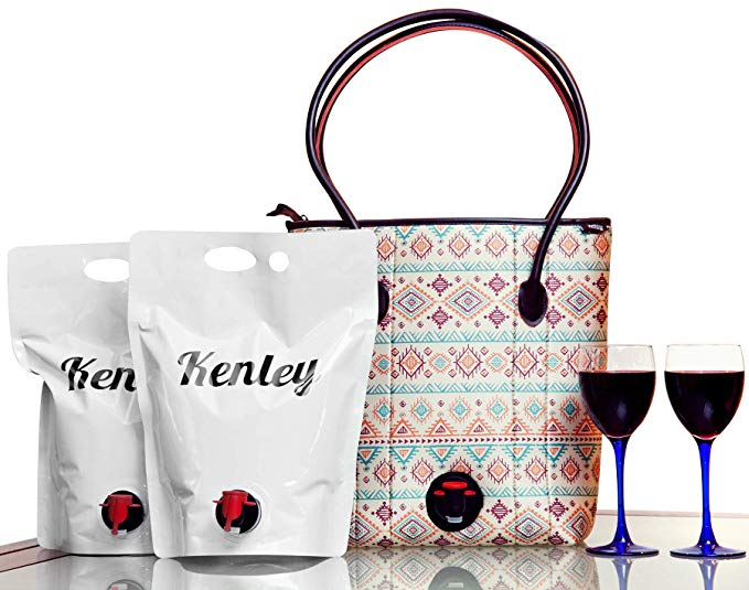 tote bag - wine dispenser